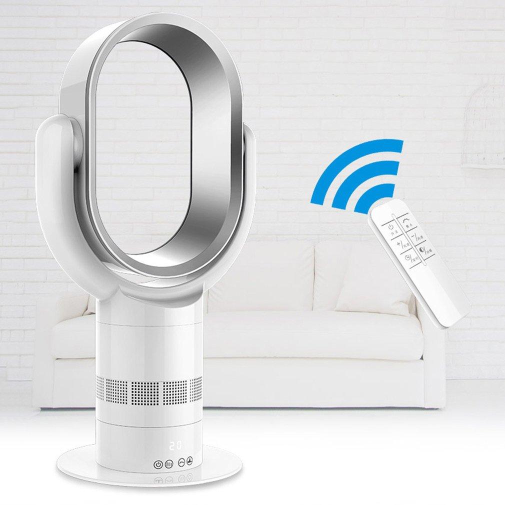 Portable Bladeless Fan 2A Air Condition Remote Control Home Desktop Fan