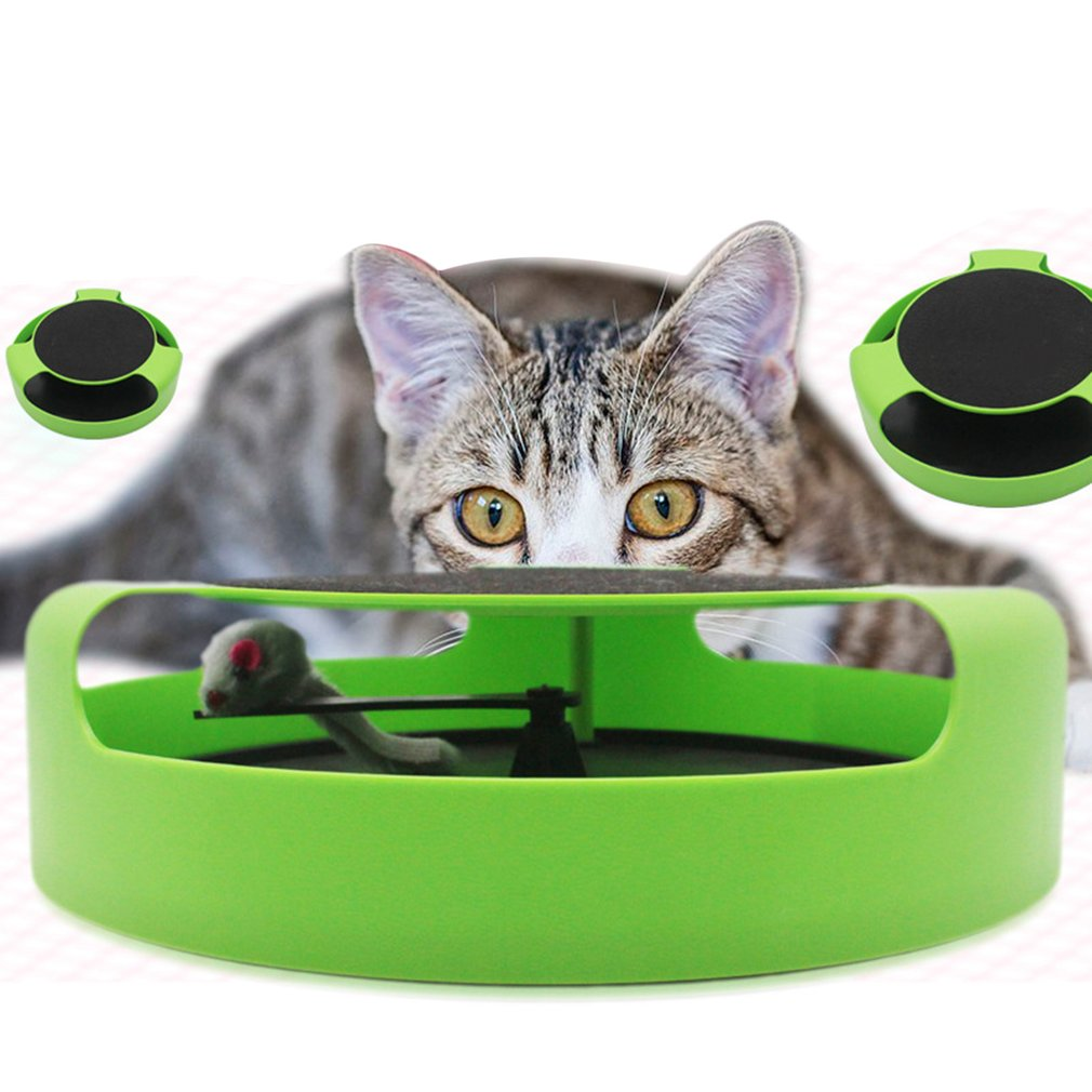 PP Plastic Pet Cat Funny Moving Mouse Spring Mice Ball Turntable Single Layer