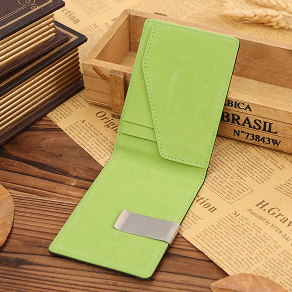 Innovative Genuine Leather Money Clip Slim Wallets ID Credit Card Holder