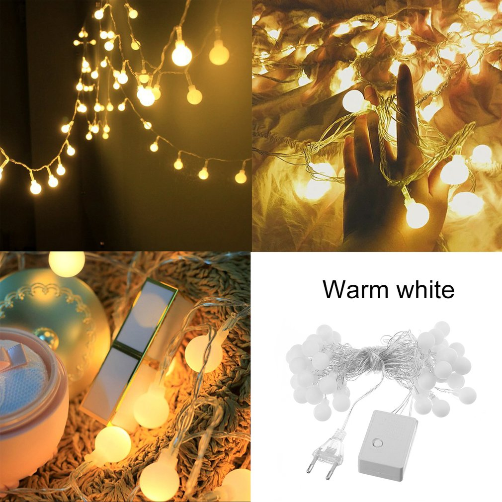 40 LED Small White Ball Lights String Battery Powered 5M Home Festival Decor
