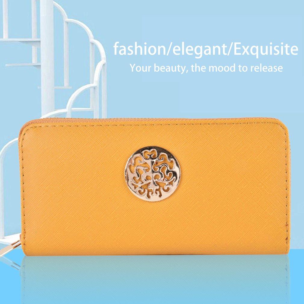 Vintage Style Soft Smooth PU Leather Wallet Card Holder Purse Clutch Handbag