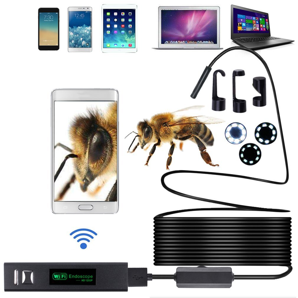 HD 1200P Waterproof WIFI Inspection Mini Camera Borescope Snake Video Cam F150