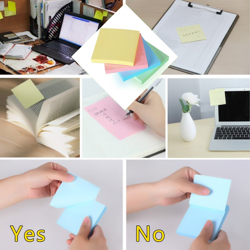 Deli 7151 Memo Papers Multicolor Notes Stickers Self-adhesive Notepads