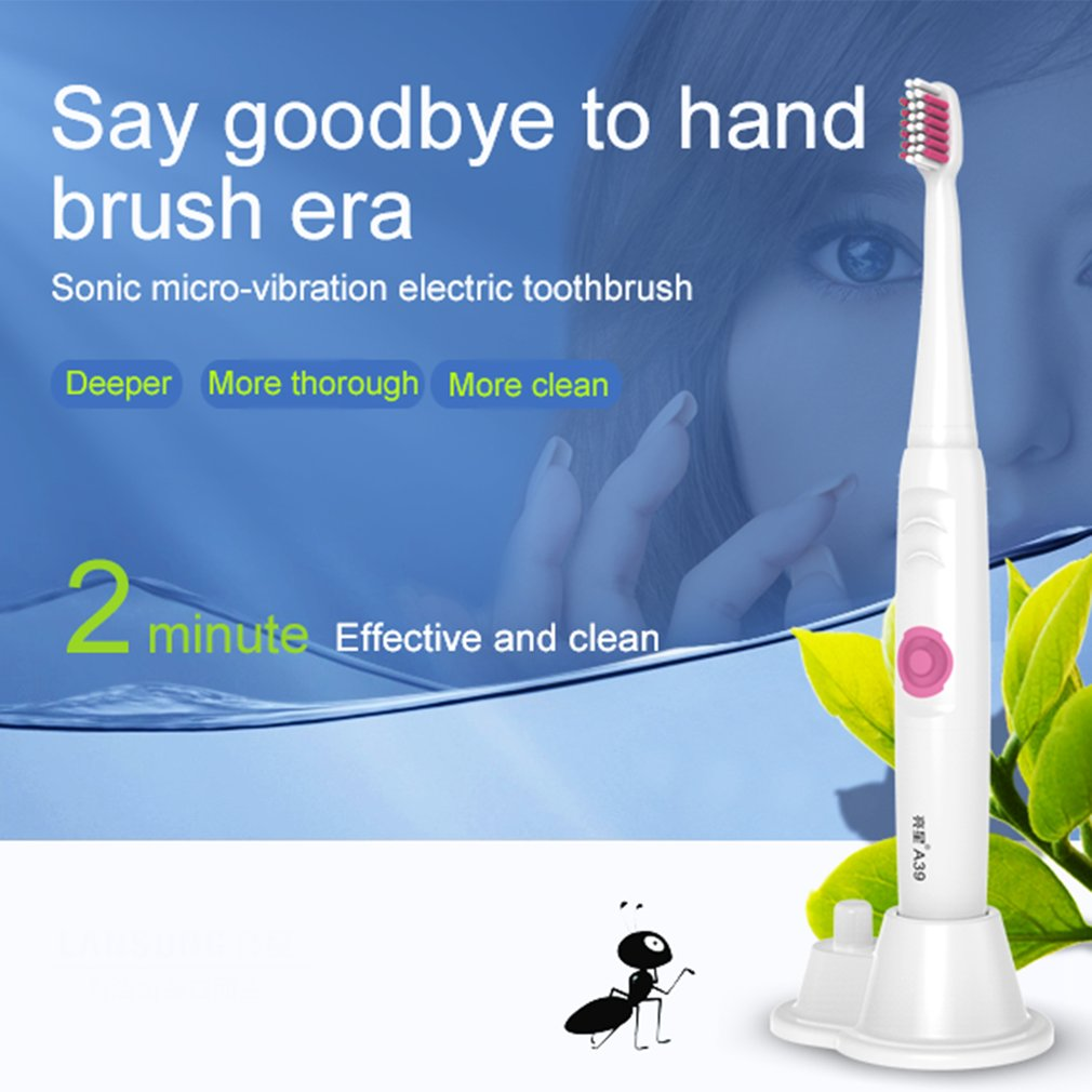 A39 Battery Power IPX7 Waterproof Sonic Electric Toothbrush for Adult Kid