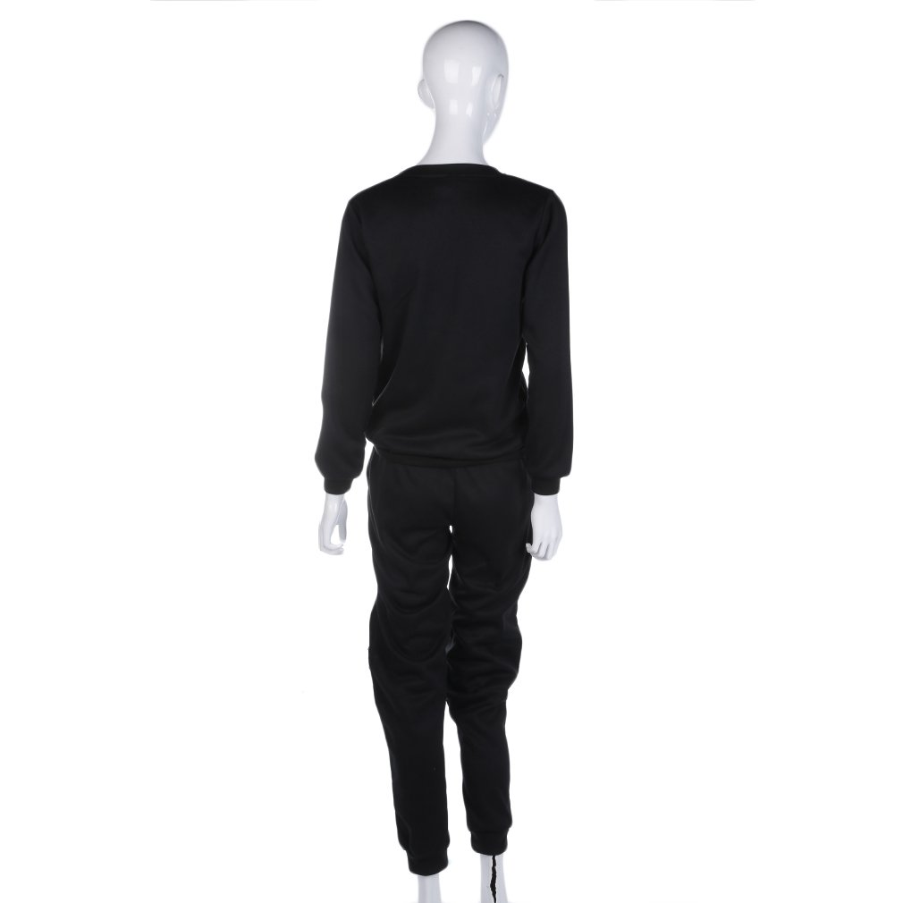 Zipper Woolen Sweater Shirt Set Women Men Unisex Casual Sport Pants Top Suit