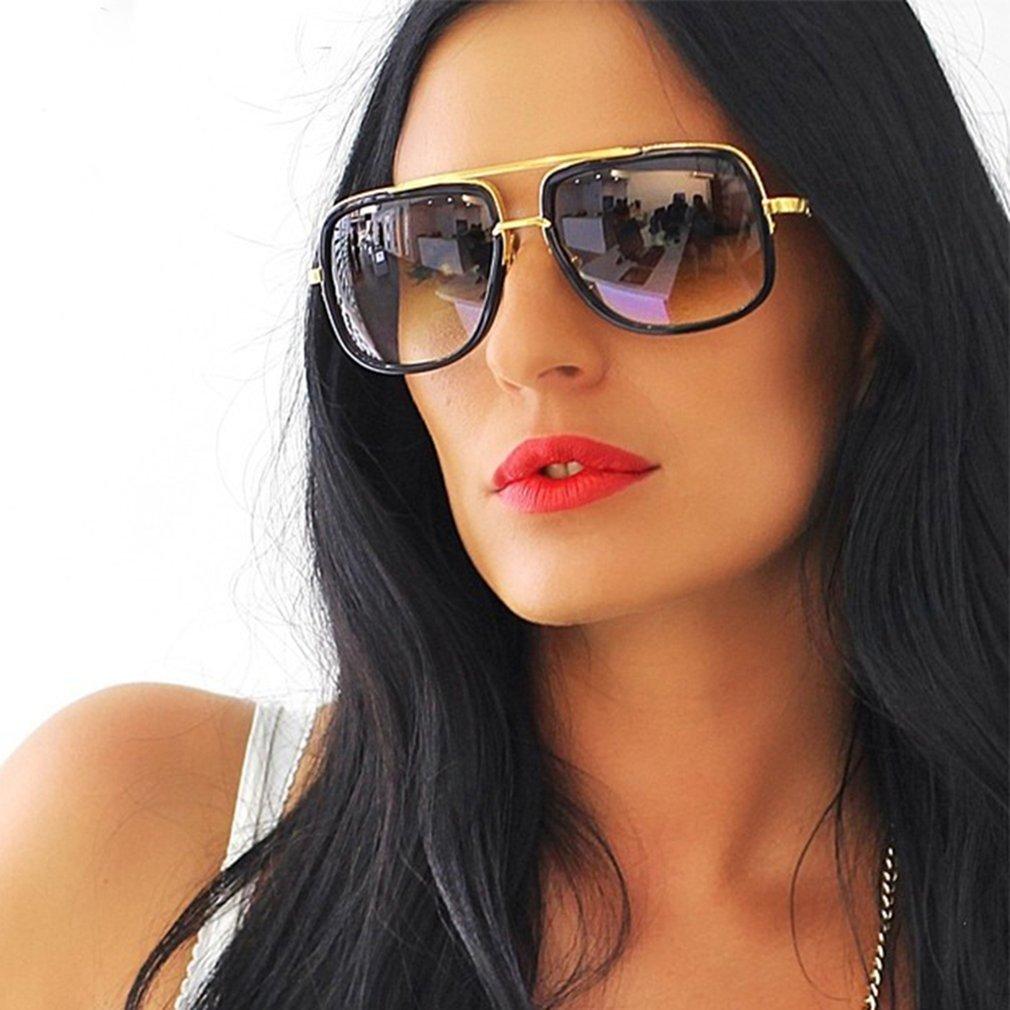 Vintage Fashion Men Women Punk Style Sunglasses Lightweight Unisex Large Frame UV Protective Driving Eyewear Glasses