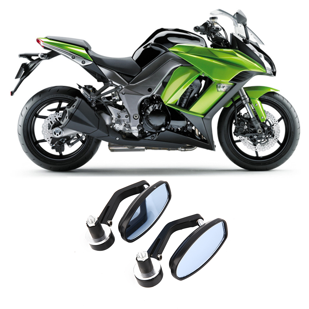 Quality Motorcycle Aluminum Rear View Handle Bar End Reflective Mirrors