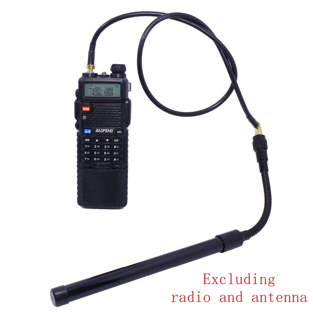 ABBREE AR-152 AR-148 Tactical Antenna SMA-Female Coaxial Extend Cable Extend Cable for Baofeng UV-5R UV-82 UV-9R Walkie Talkie