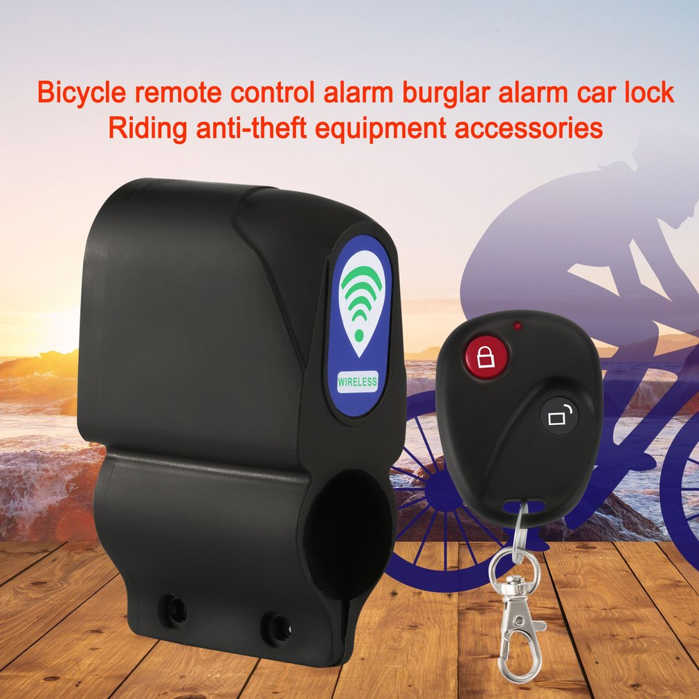 Bicycle Alarm Lock Anti-theft With Remote Control Security Lock Accessories