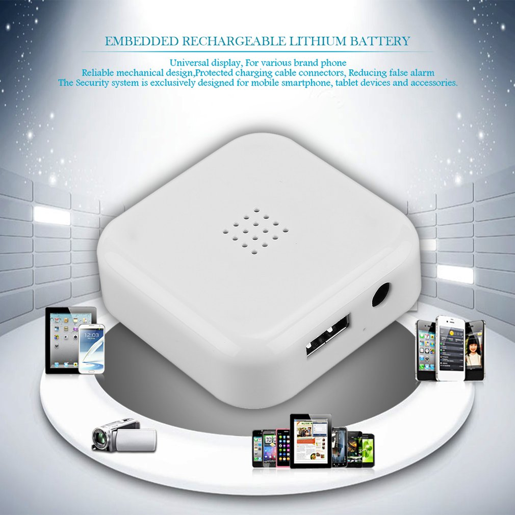 A23 Phones Tablet Anti-theft Stand Sticky Head Headphone Dual USB Alarm System