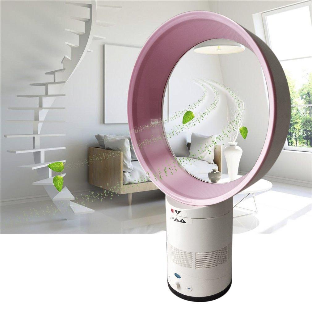 12-Inch Mini Portable Bladeless Desk Fan Children Safe Home Air Conditioner