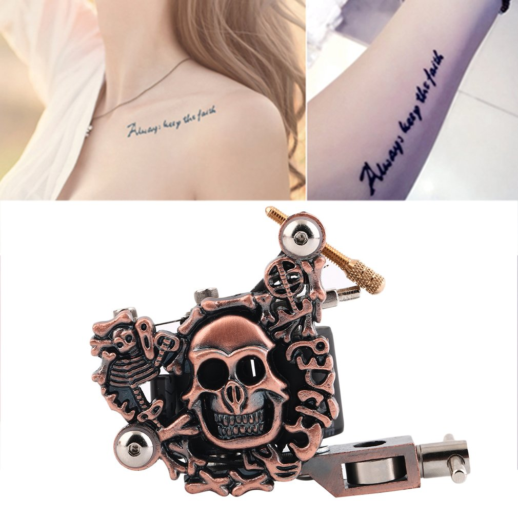 Professional Beauty Empaistic Skull Tattoo Machine Motor for Liner Shader
