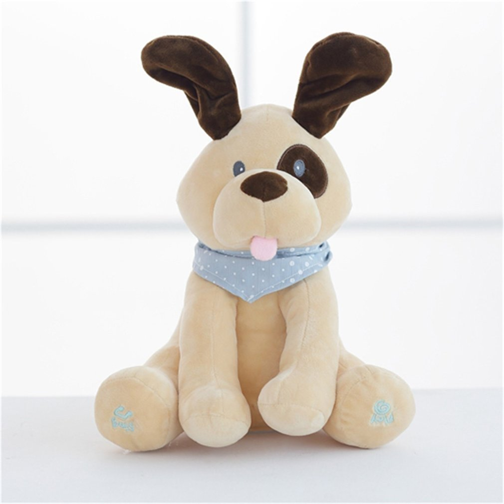 30cm Electric Dog Plush Soft Toy Animal Stuffed Doll Play Hide Seek Cute Toy