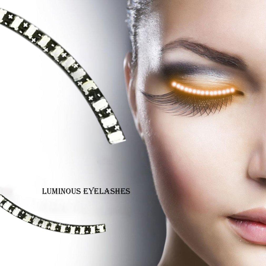 Magic LED Lashes Luminous False Eyelashes for Cosplay Halloween Party
