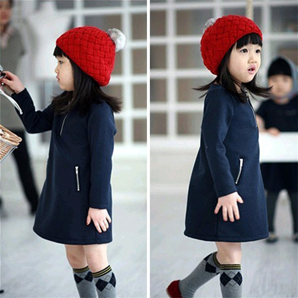 Kids Baby Knitted Berets Hat Infant Toddler Caps Cute Warm Boy Girl Beanies