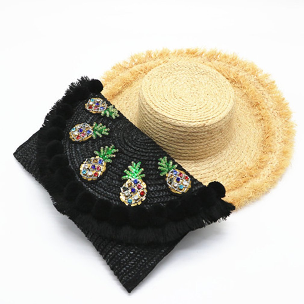 Stylish Straw Plaited Lady Clutch Bag Convenient Handmade Single-shoulder Crossbody Bag For School Work Party Shopping