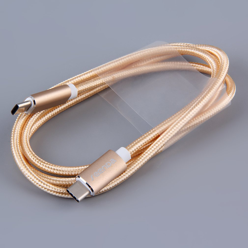 3.1 Dual Port Type-C Charging Data Line With Adapter High Speed Cable 15cm