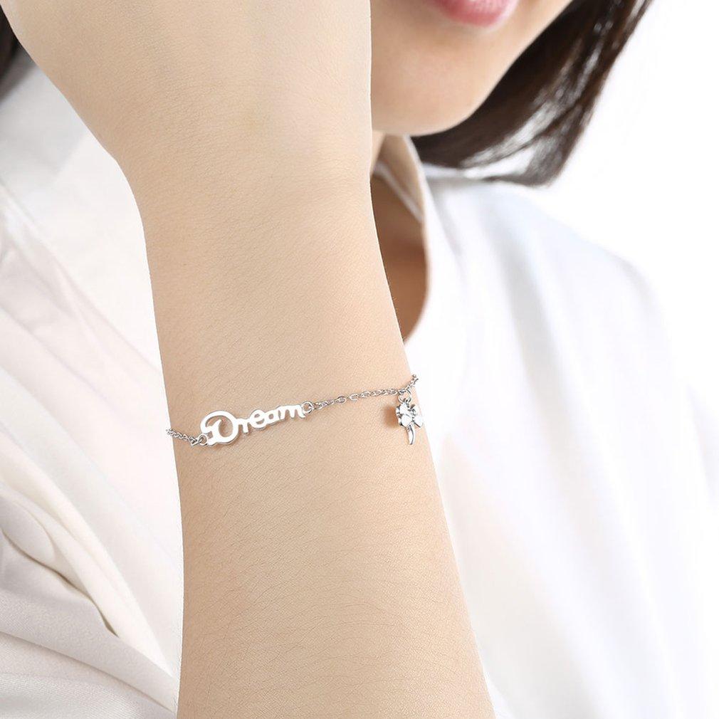 Anti Allergy Women Fashion DREAM Butterfly Bracelets Female Ladies Elegant Link Chain Bracelets & Bangles Jewelry