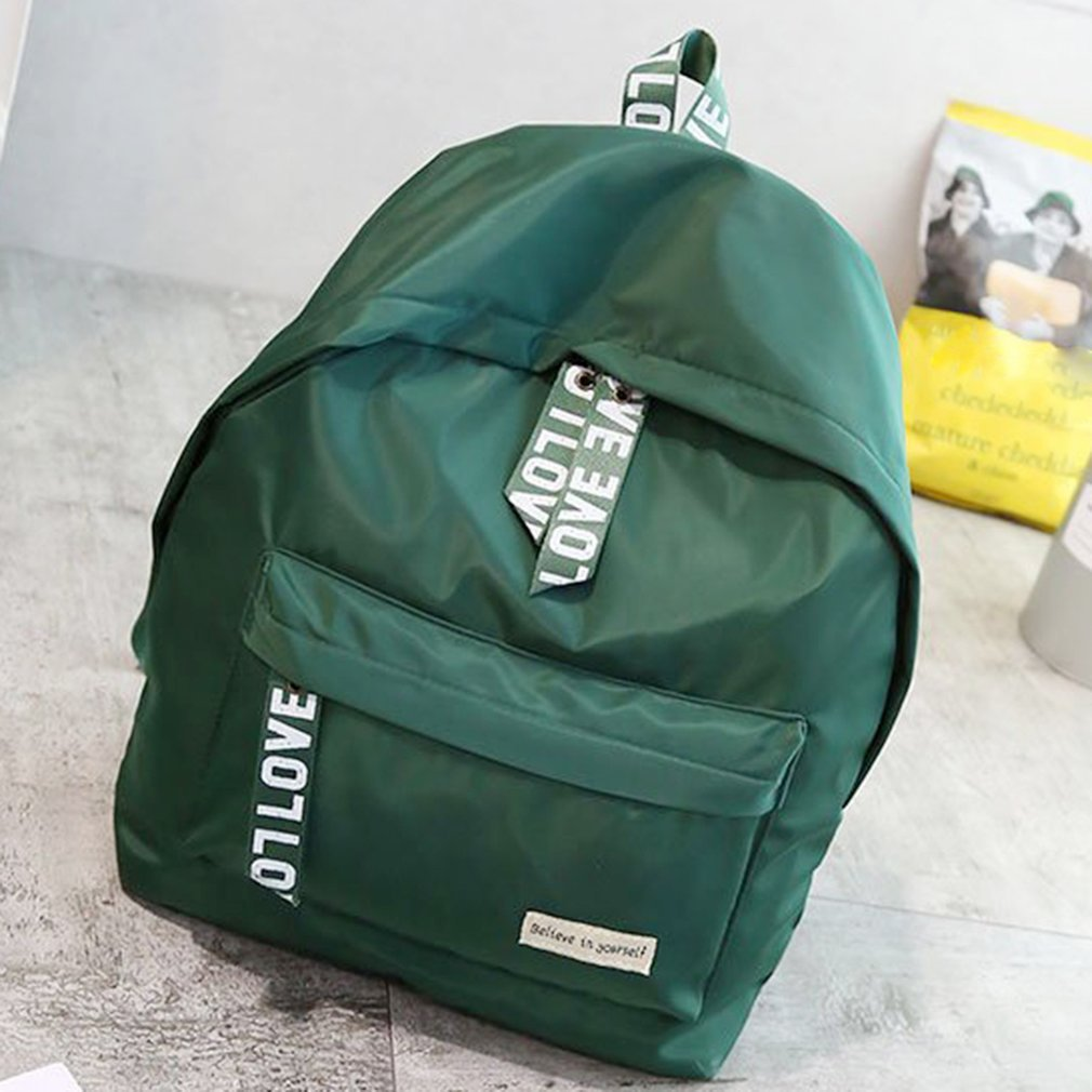 Fashion Large Capacity Casual Style Leisure Backpack Coloured Ribbon Shoulder Bag For Outdoor Travel For Students School Bags