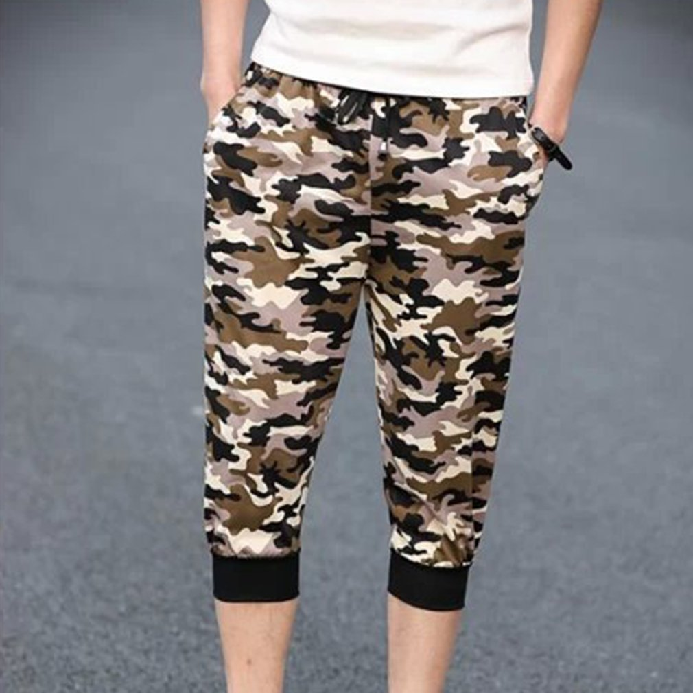 Summer Men large casual shorts Cropped Trousers Beach pants Fashionable