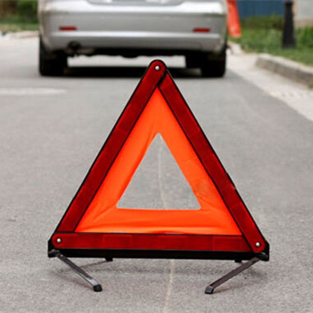 Practical Car Triangle Sign Emergency Warning Foldable Reflective Tripod