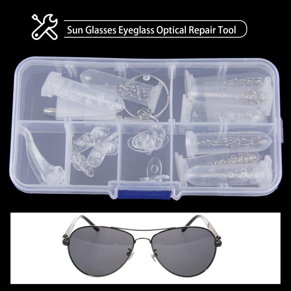 Sun Glasses Eyeglass Optical Repair Tool Screw Nut Nose Pad Assortment Set