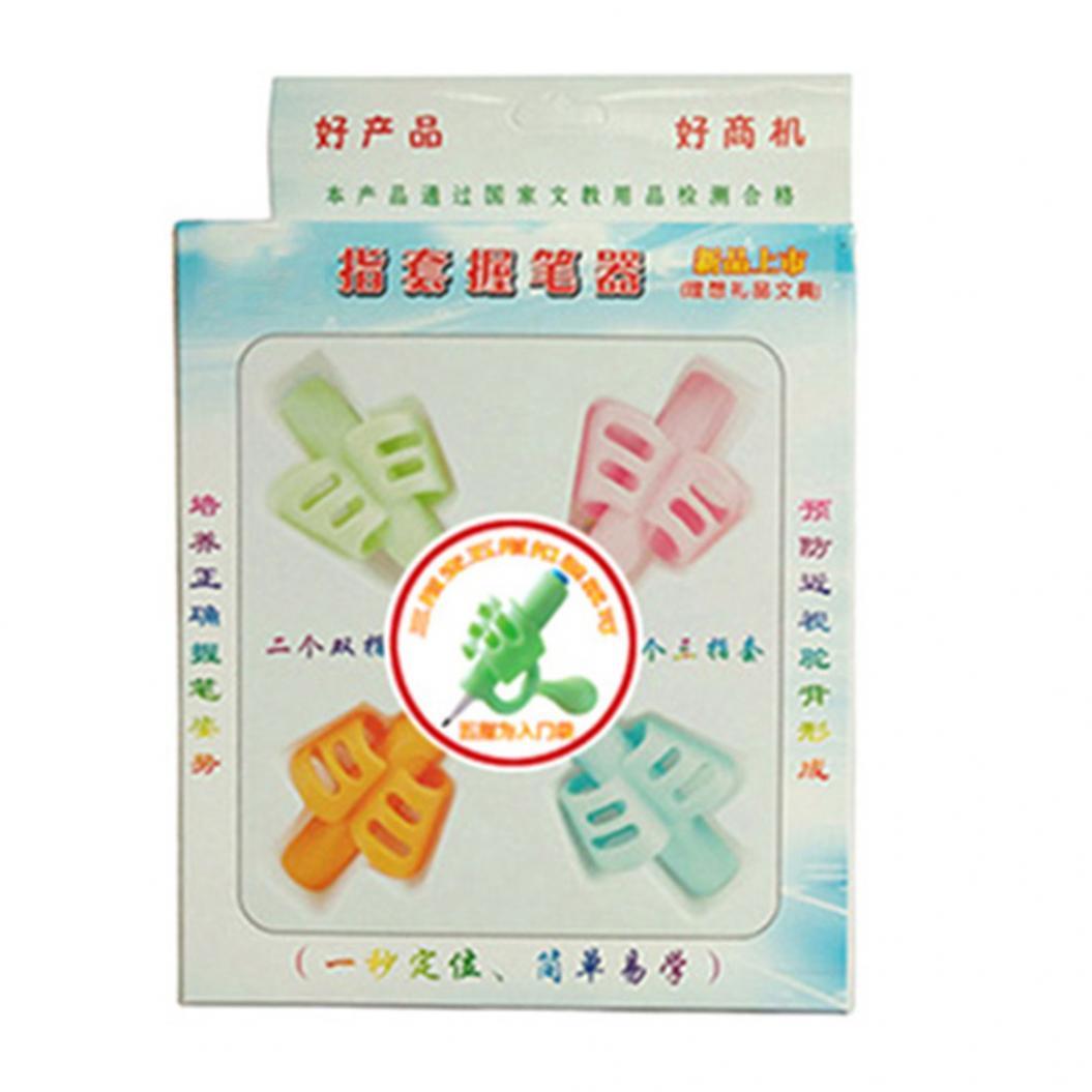 4Pcs 2/3 Finger Grip Pencil Holder Children Learning Writing Correction Tool