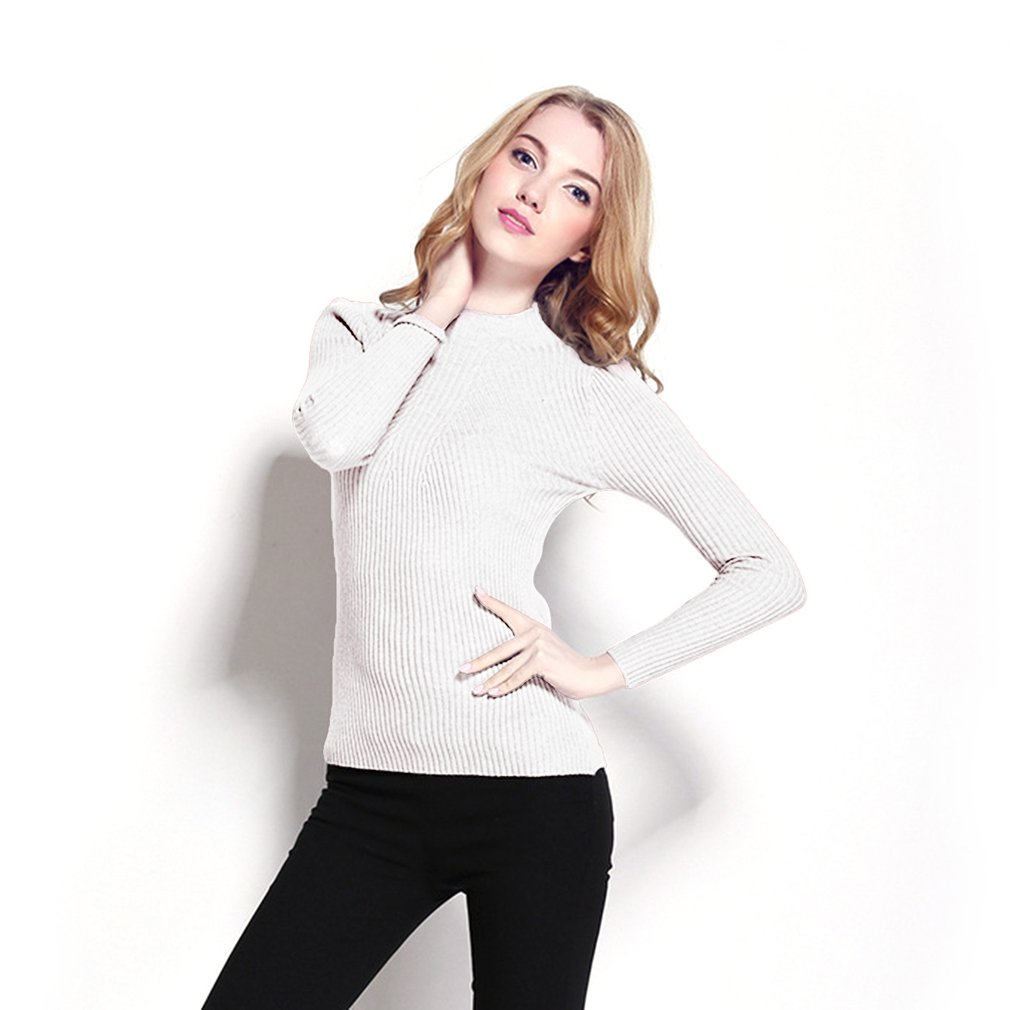 Autumn Winter Ladies Sweater Long Sleeve Half Turtleneck Warm Woman Cardigan
