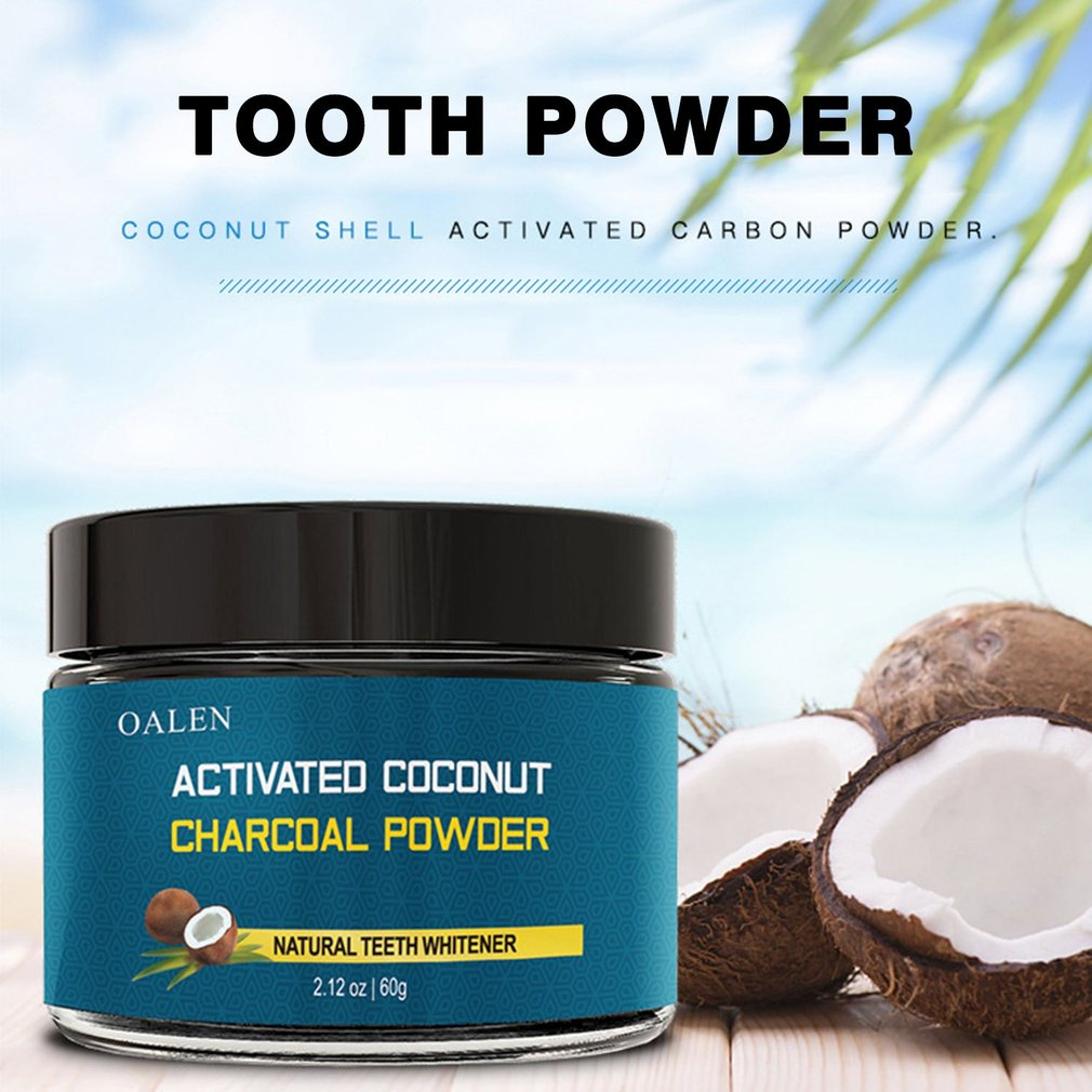 Oral Care Cocoanut Active Charcoal Whiten Teeth Cleaning Powder Health Hygiene