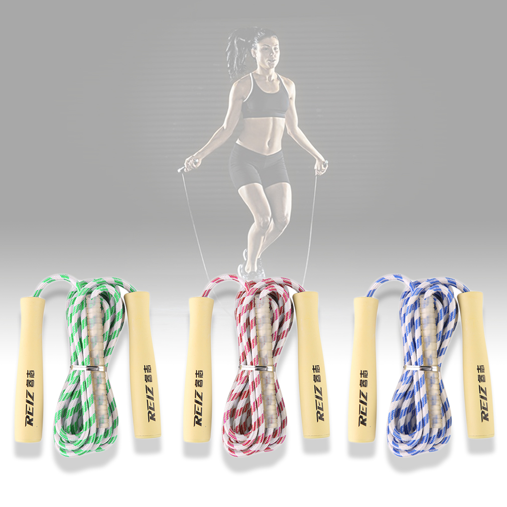 REIZ NS3221A Adjustable Speed Plastic Skipping Jump Rope Portable Equipment