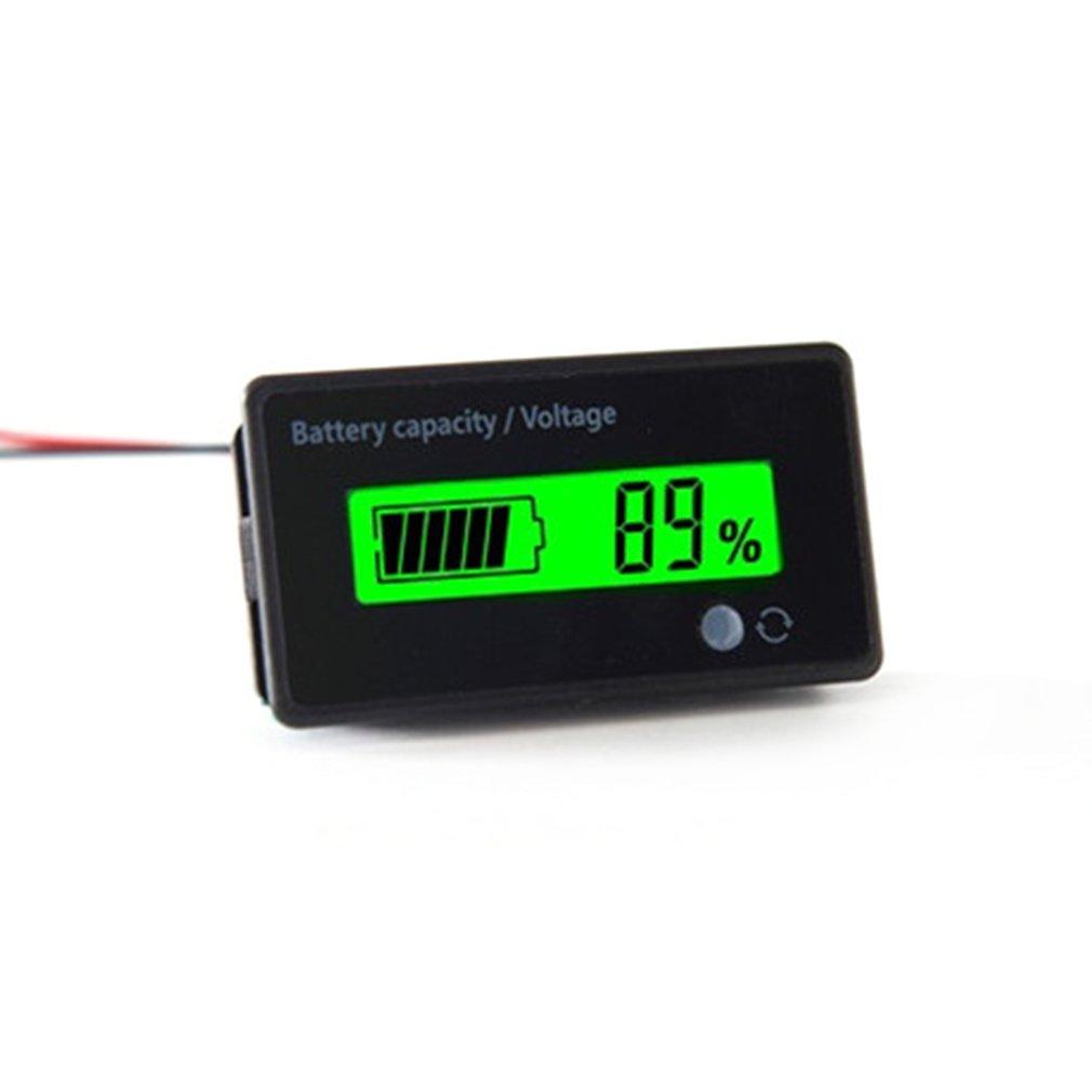 6-63V Digital LCD Acid Lead Lithium Battery Capacity Voltage Indicator