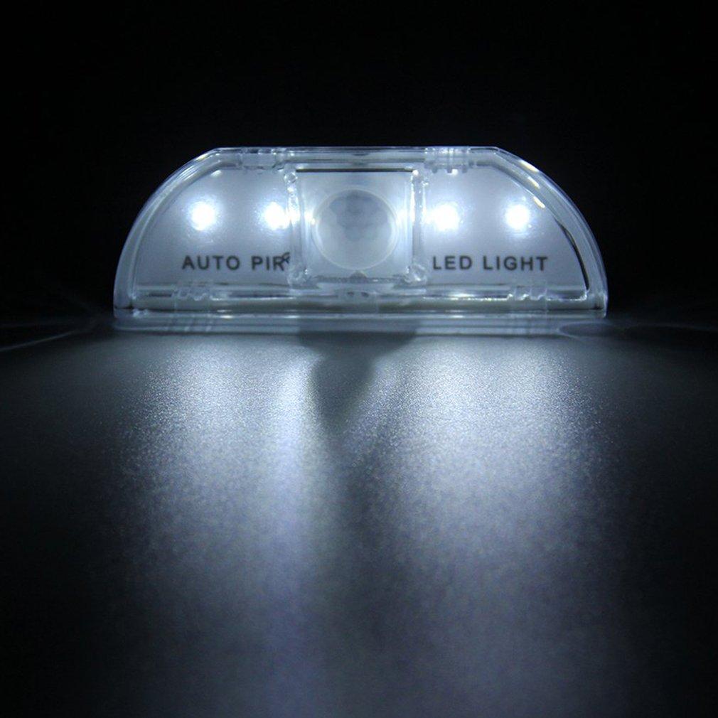 Indoor PIR Wireless Auto Sensor Motion Detector Keyhole 4LED Light lamp
