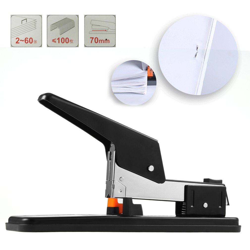 DELI Manual Heavy Duty Stapler 50 Pages Thick Repair Book Make Book Staplers