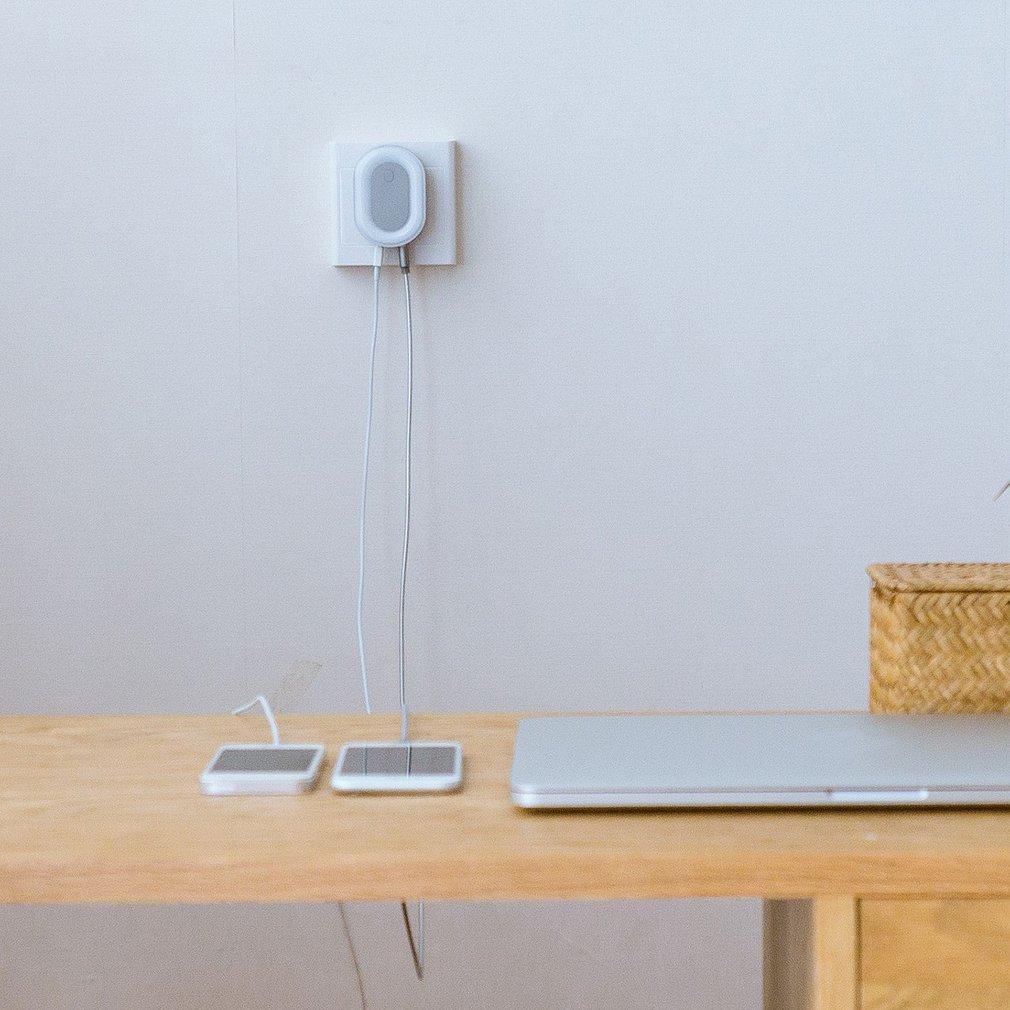 Mini Intelligent LED Night Light Multifunctional Dual USB Mobile Phone Charging