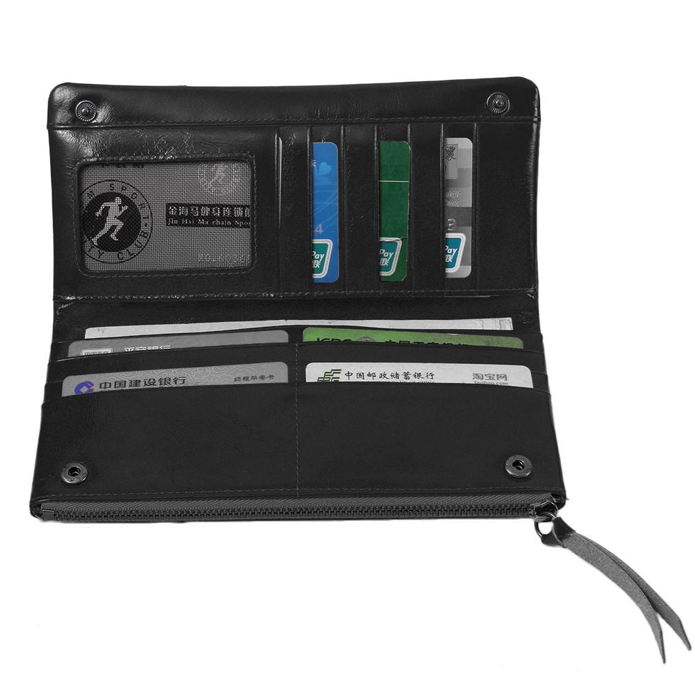 Long Leather Purse Wallets Vintage Handbags Card Holder Money Phone For Women