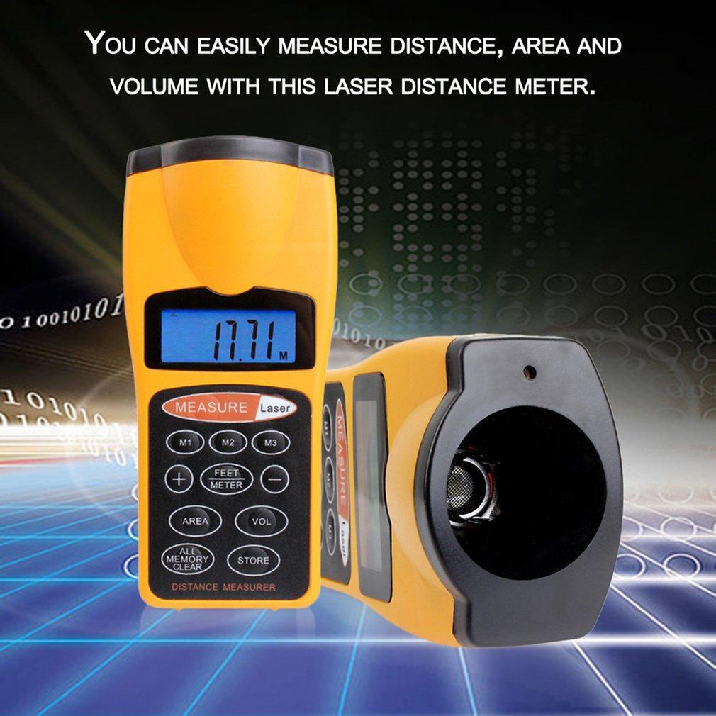 Mini Portable Range Finder Electronic Ultrasonic Laser Distance Meter CP-3007