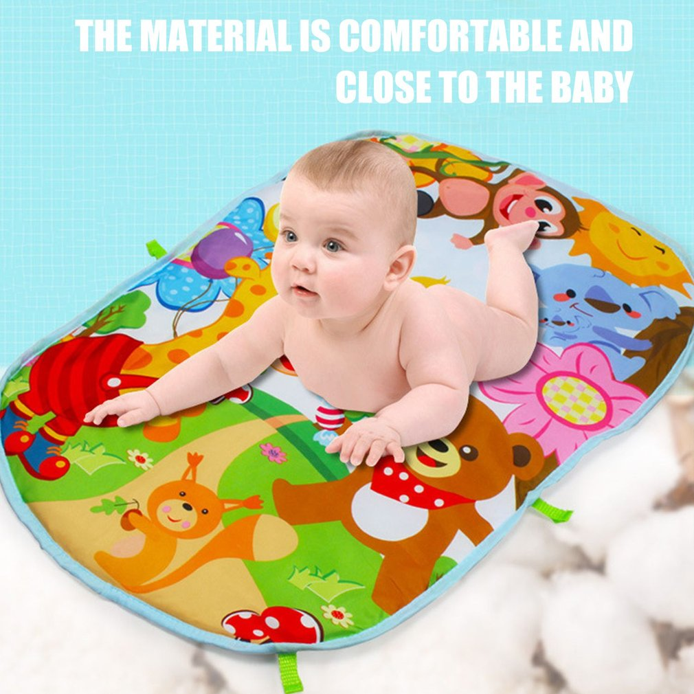 Baby Play Mat Toddler Gym Blanket Piano Pedal Fitness Frame Toy with Music