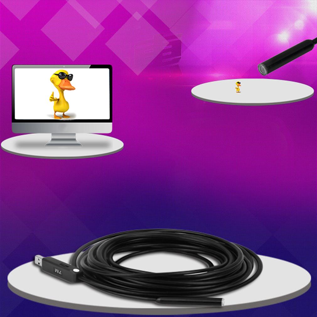 7M USB Waterproof Endoscope Borescope Snake Inspection Tube Camera 4 LED