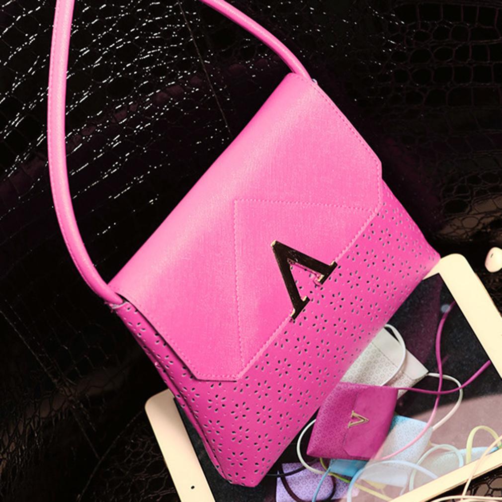 Korean Style Inverted V Hollow Letters Autumn Small Handbag For Women