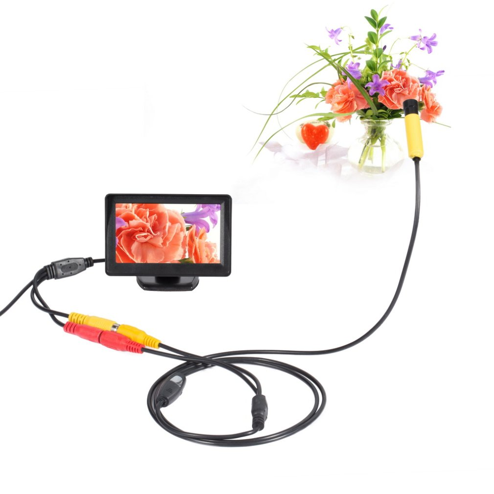 AV Waterproof Endoscope and TFT Color Monitor Insepction Borescope Hard Line
