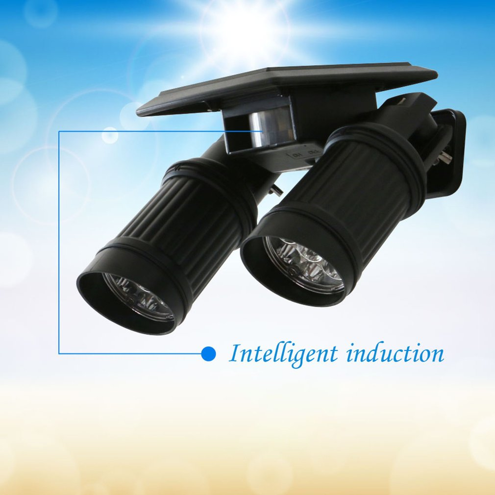 120LM Solar LED Induction Lamp Two-burner Lamp Intelligent Infrared Induction