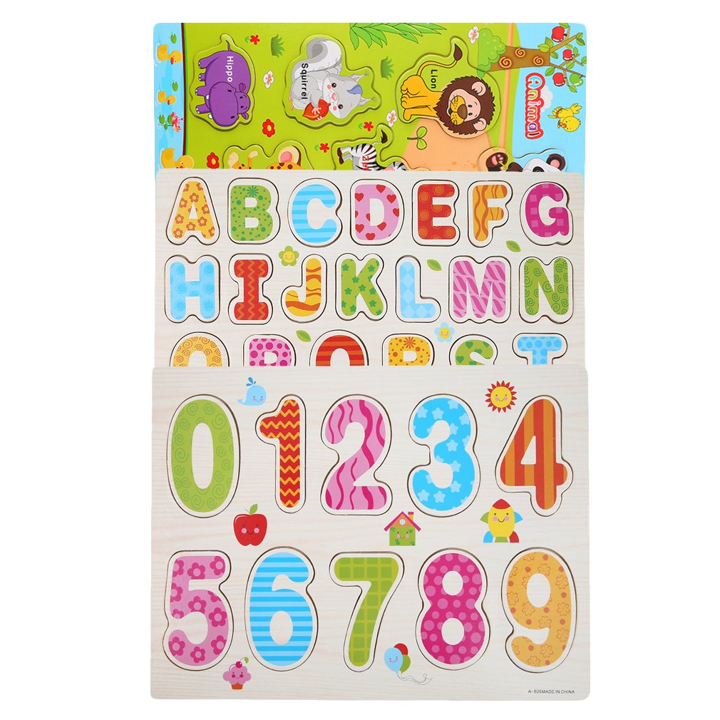 Children Alphabet Letter Wooden Jigsaw Learning Educational Puzzle Toys