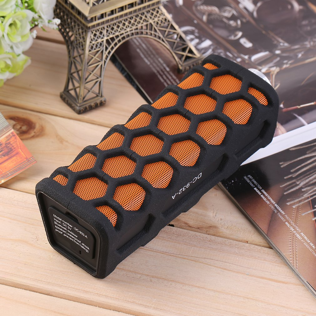 Waterproof Stereo Bluetooth Wireless Outdoor Speaker Handsfree 3.5mm Orange