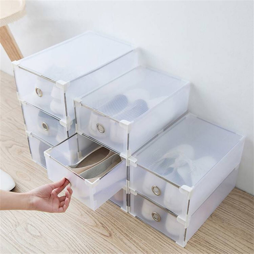 24 Grids Foldable Shoe Boxes Universal Home Organizer Stackable Storage Drawer