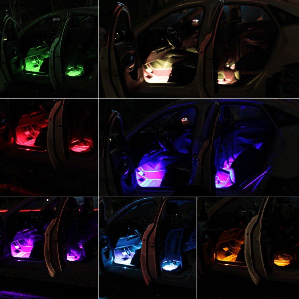 Colorful Voice Control Remote Control Car Interior Decorative Light LED Lamp