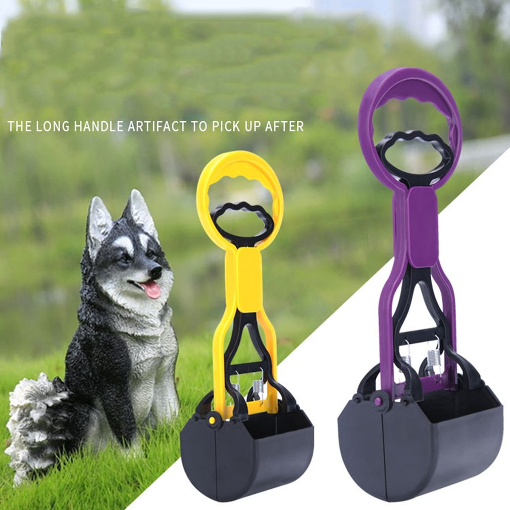 Practical Design Pets Dogs Cats Pooper Scooper Anti-Slip Long Handle Jaw Poop Scoop Waste Picker Pick Up Cleaning Tools