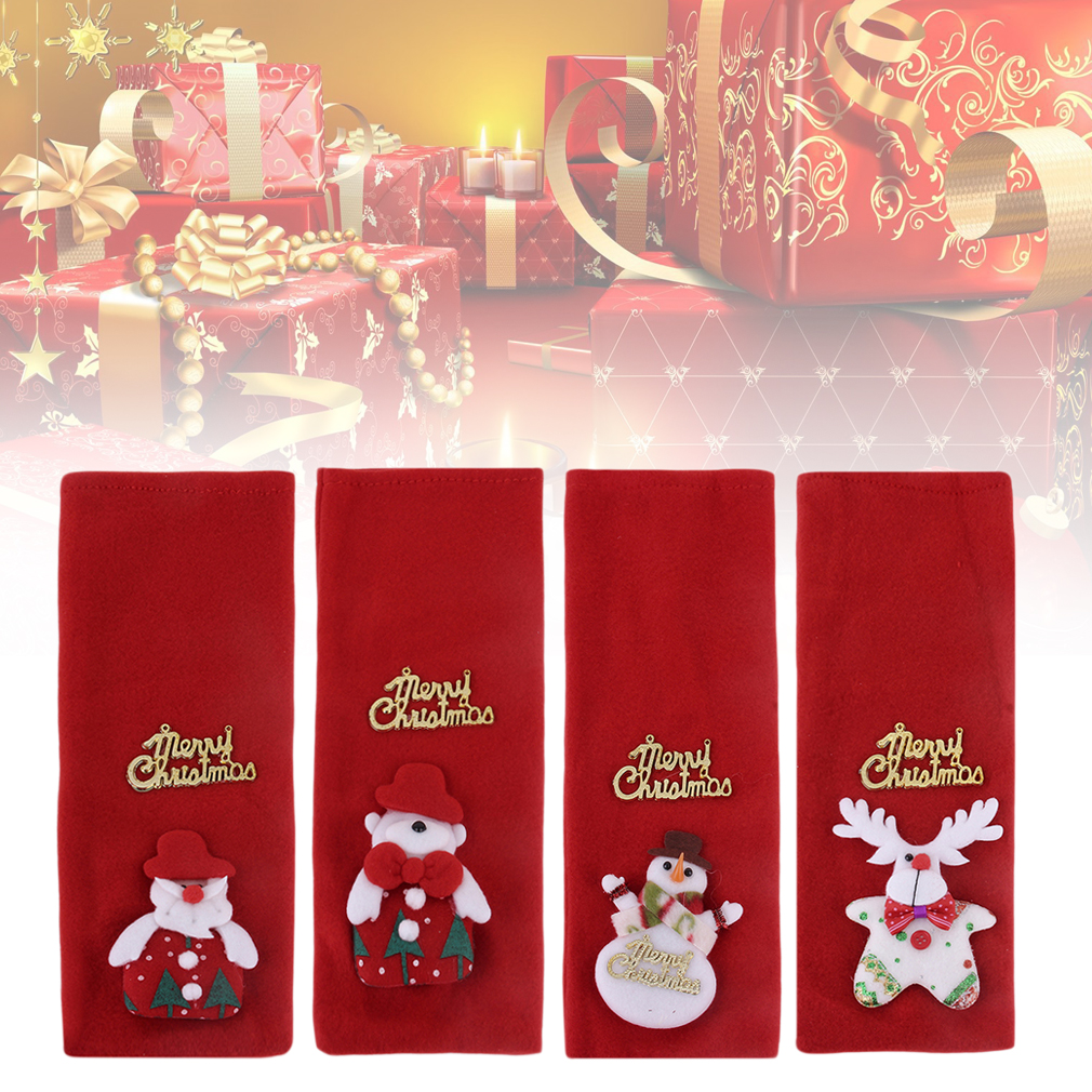 Santa Claus Red Wine Bag Home Christmas Party Table Decoration Storage Bags