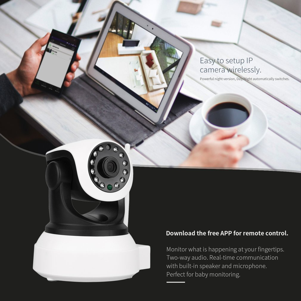 DID-901FH One Million 720P HD Wireless Network Camera Wi-Fi Home Monitor