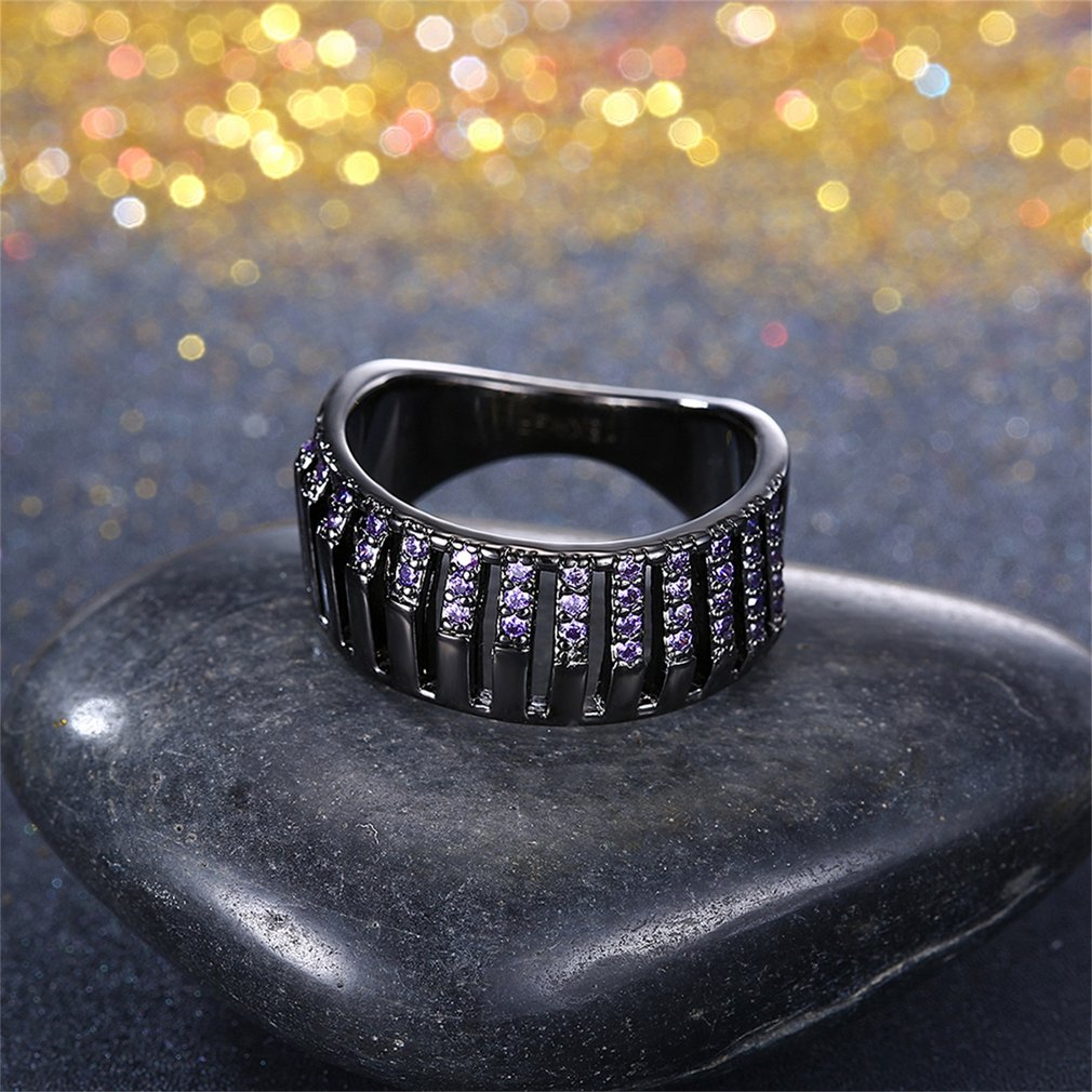 Women's Beautiful Purple Zircon Ring
