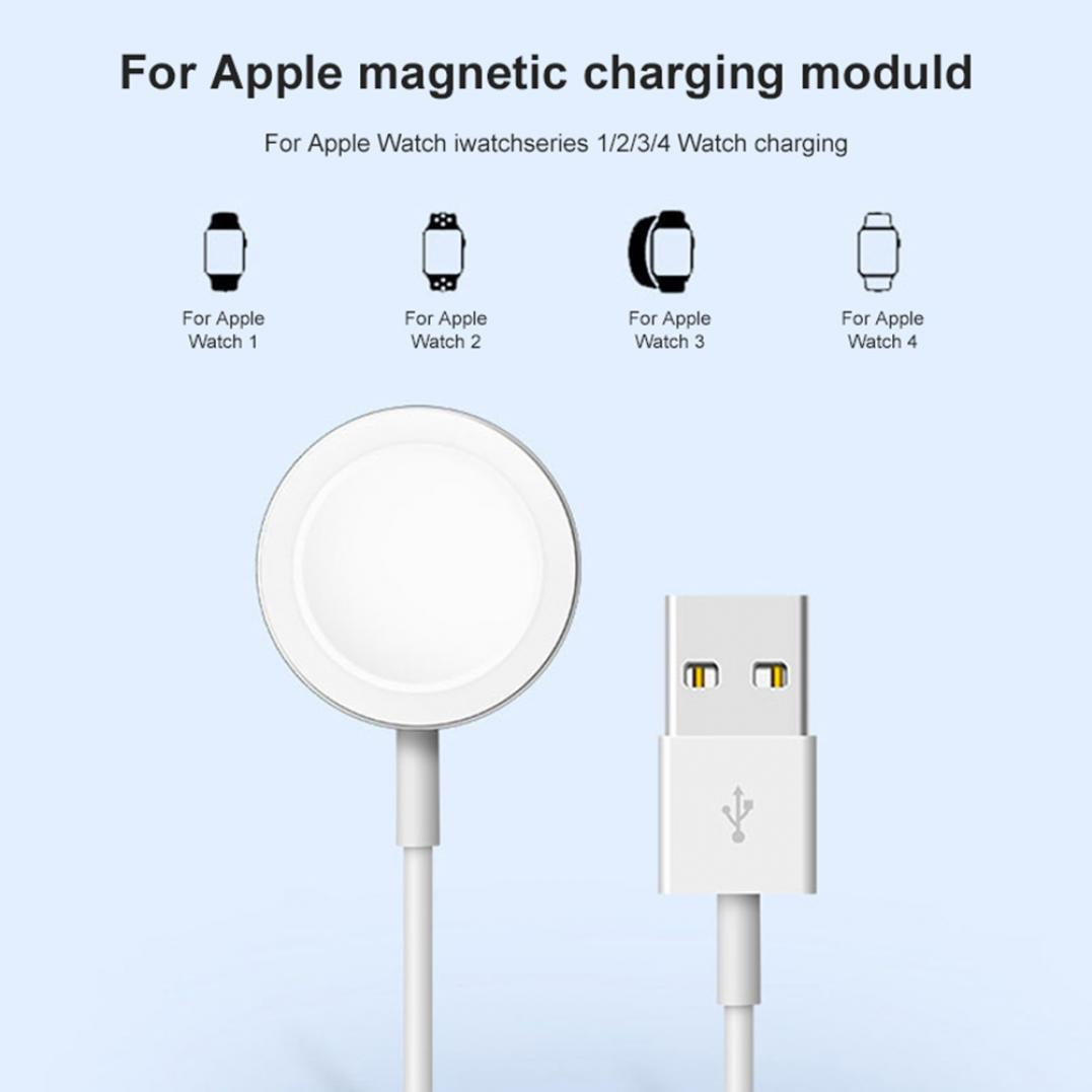 Round USB Magnetic Watch Charger Dock Charging Cable for Apple iWatch 1/2/3/4